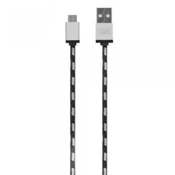 TnB Nylon micro USB Cable 2 m gris