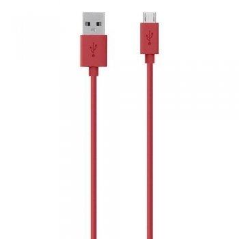 Cable de datos USB Belkin para Samsung Galaxy rojo