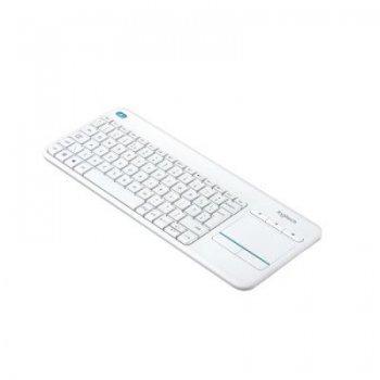 Teclado inalámbrico Logitech K400 Plus TouchPad Blanco
