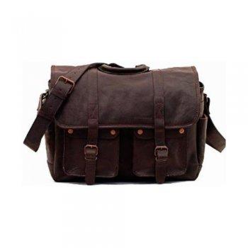 Bolsa de cuero para cámara Paul Marius marrón oscuro