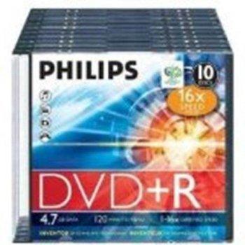 Philips DVD+R DR4S6S10F  10 DVD+RW vírgenes (DVD+R)