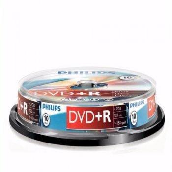 Philips DVD+R DR4S6B10F  10 DVD+RW vírgenes (DVD+R)