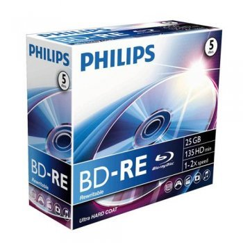 Philips BD-RE BE2S2J01F  5 Disco de alta densidad