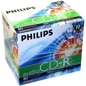Philips CD-R CR7A0NJ10 - CD-RW vírgenes