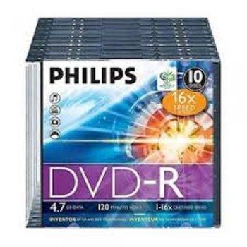 Philips DVD-R DM4S6S10F - DVD+RW vírgenes (DVD-R)