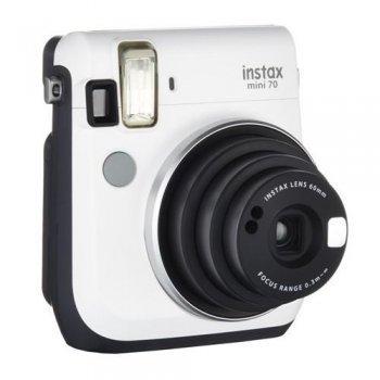 Cámara instantánea Fujifilm Instax mini 70 blanca + Carga