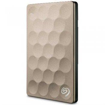 Disco duro portátil Seagate BP Ultra Slim 2TB Oro