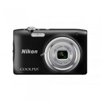 Cámara compacta Nikon Coolpix A100 Negro + Funda + Palo selfie