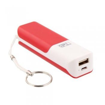 Powerbank TNB 2500 mAh rojo/blanco