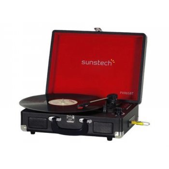 Tocadiscos Bluetooth Sunstech PXR6SBT Negro