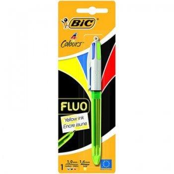 Bic 4 colores con marcador fluor 20