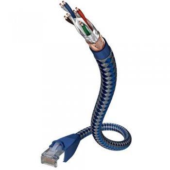 Cable de red Inakustik Premium RJ45-RJ45 8 m Azul