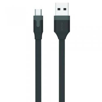 Cable MCA micro USB reversible 1 m negro