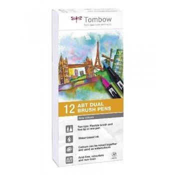 Tombow ABT PW-12p-m 3 rotuladores Dual Brush Pen con dos puntas - 12 unidades