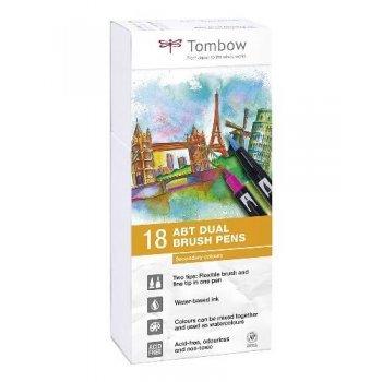 Tombow ABT rotuladores Dual Brush con dos puntas - 18 unidades