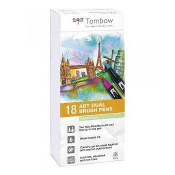 Tombow ABT-18P-5 rotuladores Dual Brush Pen - 18 unidades