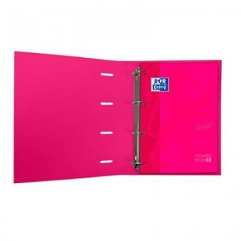 Carpeta Oxford A4 anillas + recambio Soft Touch (varios colores)