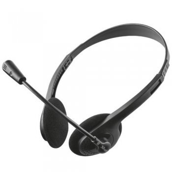 Auriculares con micrófono Trust Primo Chat Negro