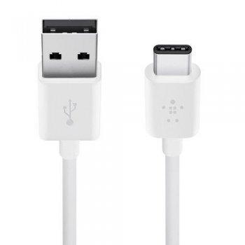 Cable Belkin F2CU032bt06-WHTde USB-A a USB-C blanco