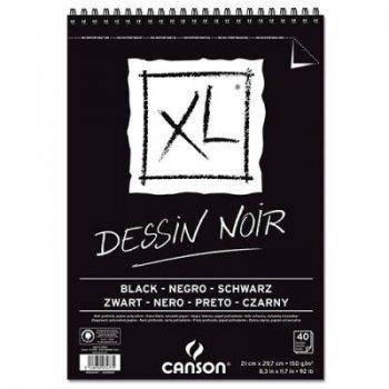 Canson xl-bloc 21x29 black fino n05