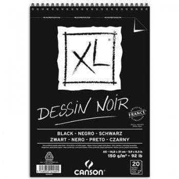 Canson xl-bloc 14x21 black fino n05