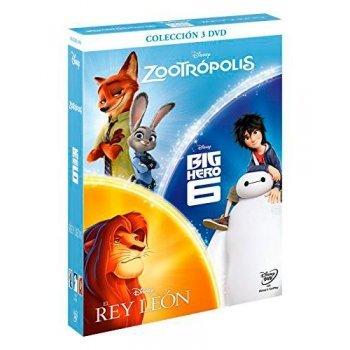 Pack Zootrópolis + Big Hero 6 + El Rey León - DVD