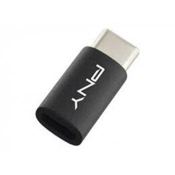 PNY adaptador Micro-USB a USB-C negro