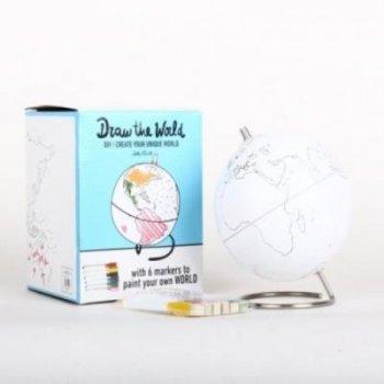 Bola del mundo DIY para colorear