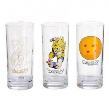 Set 3 vasos Dragon Ball Z