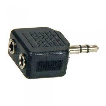 Adaptador Temium mini Jack 3,5 mm macho a 2 hembras