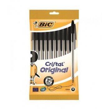 10 bolígrafos Bic Cristal original negros