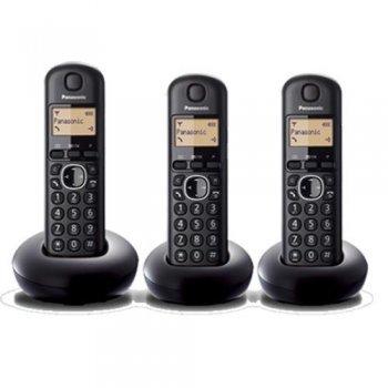 Teléfono inalámbrico Panasonic KX-TGB213SPB trío negro Dect