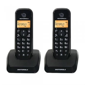 Teléfono inalámbrico Motorola S12 duo negro Dect