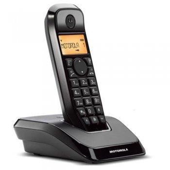Teléfono inalámbrico Motorola S1201 Negro Dect
