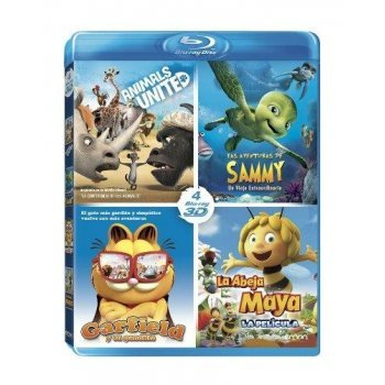 Pack Animales 3D: Las Aventuras De Sammy + Animals United + Maya + Garfield [Formato Blu-ray]