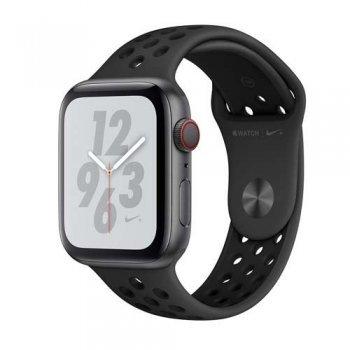 Apple Watch S4 Nike+ LTE 44 mm Caja de aluminio en gris espacial y correa Nike Sport Antracita/Negro