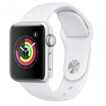 Apple Watch S3 38mm GPS Caja de aluminio en plata y correa deportiva blanca
