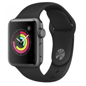 Apple Watch S3 38mm GPS Caja de aluminio en gris espacial y correa deportiva negra