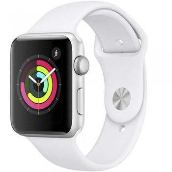 Apple Watch S3 42mm GPS Caja de aluminio en plata y correa deportiva blanca
