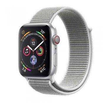 Apple Watch S4 44mm LTE Caja de aluminio en plata y correa Loop deportiva en color Nácar