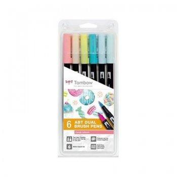 Dual brush-6 rotuladores candy pun4