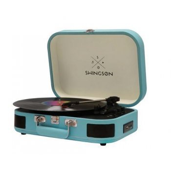 Tocadiscos Bluetooth Swingson On Stage Azul