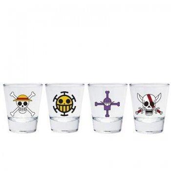 Set de 4 vasos mini One Piece