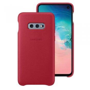Funda de cuero Samsung para Galaxy S10e Rojo