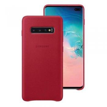 Funda de cuero Samsung Rojo para Galaxy S10+