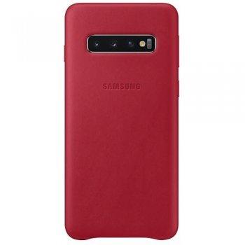 Funda de cuero Samsung Rojo para Galaxy S10