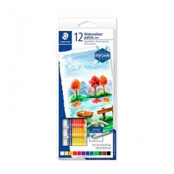 12 tubos pintura acuarela Staedtler colores variados