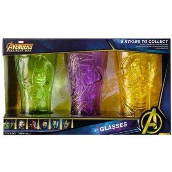 Set 3 vasos Marvel: Hulk, Groot, Thor