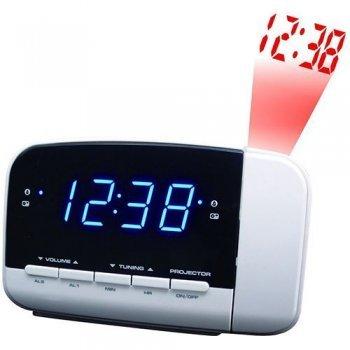 Radio despertador con proyección Brandt BCR152P Blanco