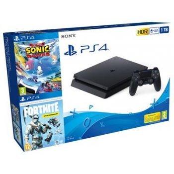 Consola PS4 Slim 1 TB + Fortnite + Team Sonic Racing